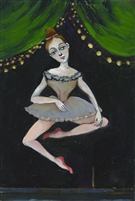 Tiny Dancer Fancy Feet, oil (6.5 x 9.5)