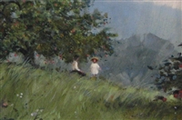 Under The Apple Tree by Paul Landry, Original Painting